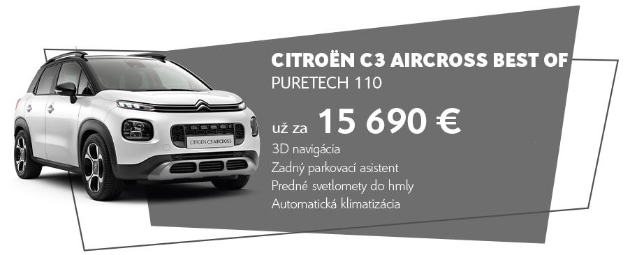 Citroen c3 aircross predaj